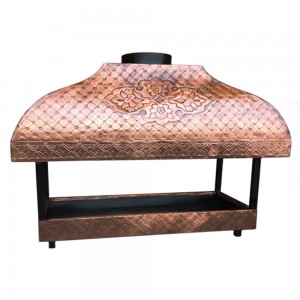 Copper Fireplace Grate Cooktop Copper Mangal Grill Kebab Fireside Barbecue Bakir Ocakbasi BBQ