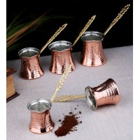 Copper Sand Coffee Machine Coffee Maker with 6 Coffee Pots and 100gr Turkish Coffee