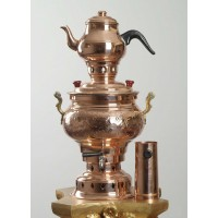 Copper Handicraft Coal Samovar Camp Stove Tea Kettle 4L