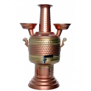Copper Handicraft Coal Samovar Camp Stove Tea Kettle 5L