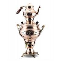 Copper Handmade Electric Samovar Tea Kettle 4L
