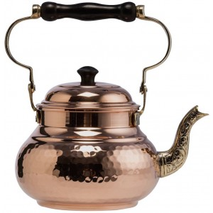 Hammered Copper Tea Pot Kettle Stovetop Teapot 1.5L