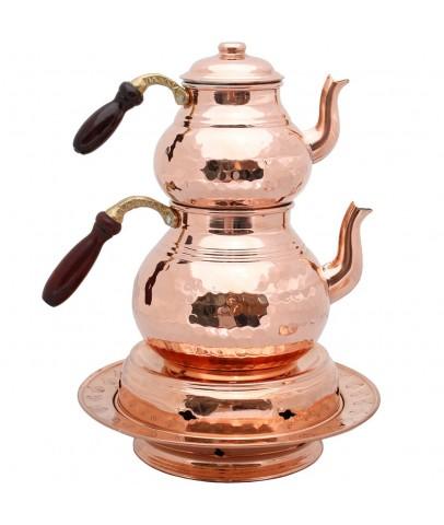 Copper Hammered Tea Pot Tea Kettle Teapot 3L