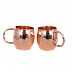 Moscow Mule Copper Mugs Set of 6 - Solid Copper Handcrafted Copper Mugs
