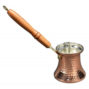 Copper Hammered Copper Coffee Pot 5 pcs Wooden Handle & 5 pcs Brass Handle with Shipping to Taiwan