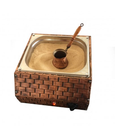 Turkish Copper Sand Coffee Machine Coffee Maker with 2 Coffee Pots and 100gr Turkish Coffee